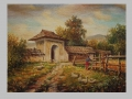 Husiarka pri bráne / Gooseherd by gate