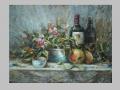 Zátišie s fľašou vína / Still life with wine bottle