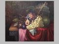 Zátišie s figami, hruškami, melónom a slivkami / Still life with figs, pears, watermelon and plums