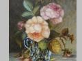 Zátišie s ružami v sklenej váze / Still life with roses in glass vase